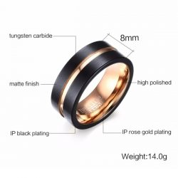 Executive Mens Tungsten Ring Features Mens Wedding Rings
