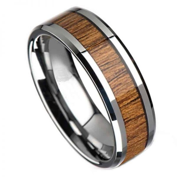 woodland mens tungsten ring Mens Wedding Rings