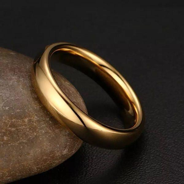 Embassy 6 mm 3 Simple Gold Tungsten Mens Ring Mens Wedding Rings