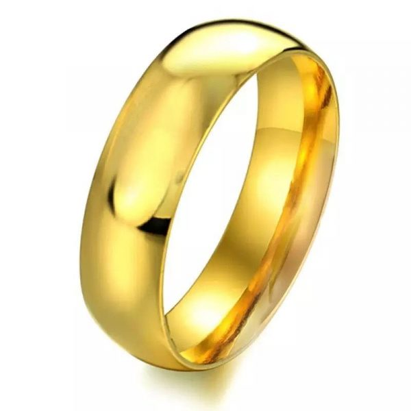 Embassy 8mm 2 Simple Gold Tungsten Mens Ring Mens Wedding Rings