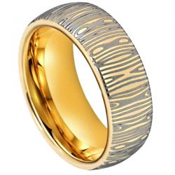 gold damascus ring