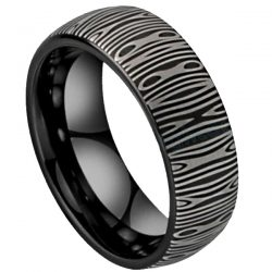 black damascus ring